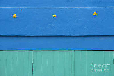 Photograph - Blue Architectural Detail by Juli Scalzi