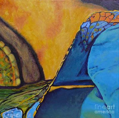 Painting - Blue Abstract    The Journey 2 by Terri Thompson