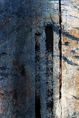 Digital Art - Blue Abstract #1 by Anita Burgermeister