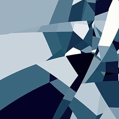 Digital Art - Blue Abstract 2 by GuoJun Pan