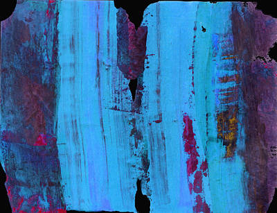 Painting - Blue Abstract by Ann Powell