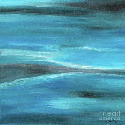 Painting - Blue Abstract Art In The Middle Of The Ocean by Saribelle Rodriguez