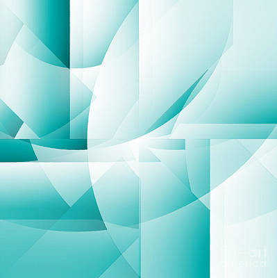 Digital Art - Blue Abstract by Barbara Moignard