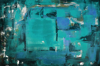 Painting - Blue Abstract by Gina De Gorna