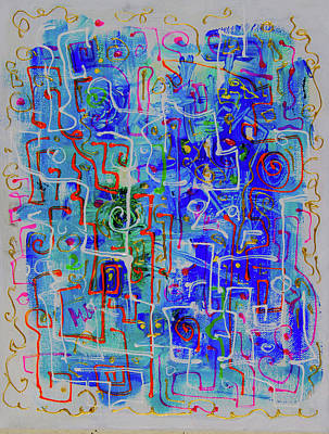 Painting - Blue Abstract by Maxim Komissarchik