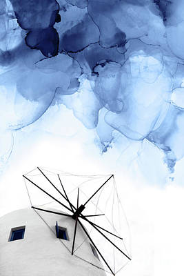 Ink Wall Art - Mixed Media - Stormy Weather II by PrintsProject