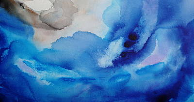 Painting - Blue Abstract Painting 2 by Shiela Gosselin