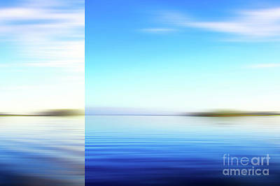 Photograph - Blue Abstract Seascape by Jan Brons