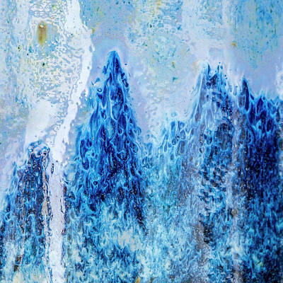 Photograph - Blue Abstract Two by David Waldrop