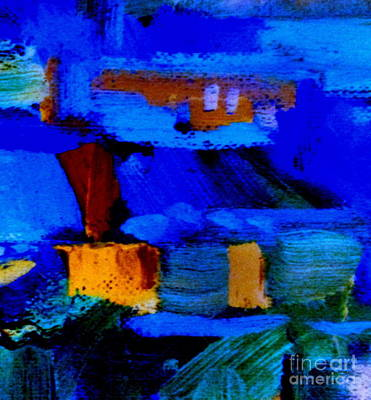 Photograph - Blue Abstraction Square by Randall Weidner