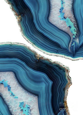 Stones Mixed Media - Blue Agate by Emanuela Carratoni