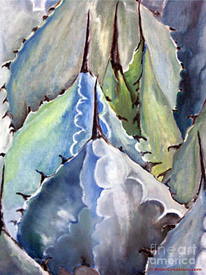 Painting - Blue Agave by CJ  Rider