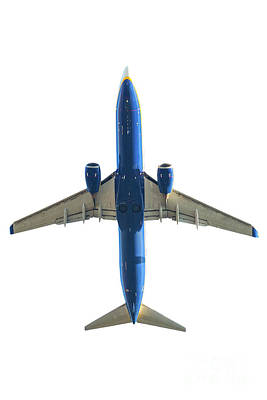 Photograph - Blue Airplane Below by Benny Marty