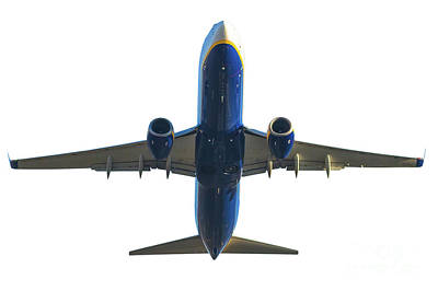 Photograph - Blue Airplane Takeoff by Benny Marty