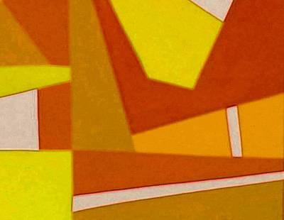 Blue Alert Detail 3 Art Print