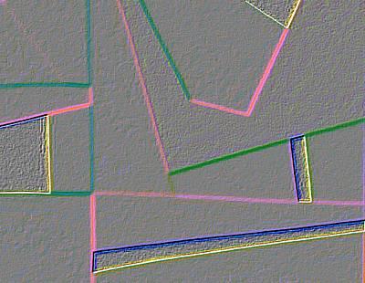 Blue Alert Detail 4 Art Print