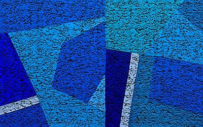 Digital Art - Blue Alert Grande Three by Dick Sauer