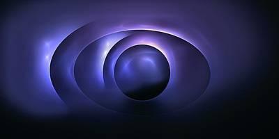 Digital Art - Blue Alignment by Doug Morgan