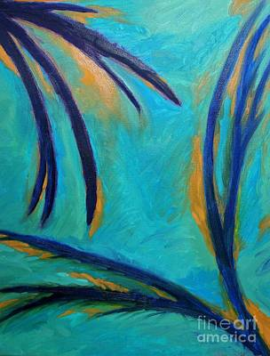 Abstract Oil Painting - Blue by Amy Wilkinson