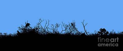 Digital Art - Blue And Black - Twig Abstract by Liz Alderdice