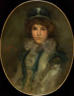 James Abbott Mcneill Whistler Painting - Blue And Coral The Little Blue Bonnet by Celestial Images