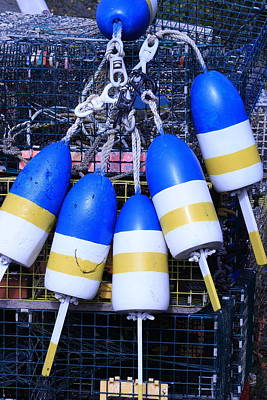 Blue And Gold Bouys Art Print
