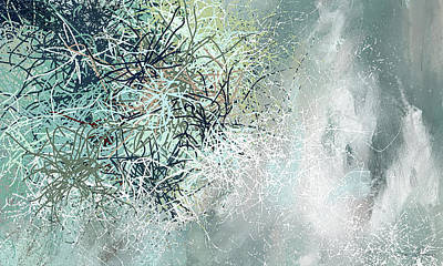 Painting - Blue And Gray Modern Abstract Art by Lourry Legarde