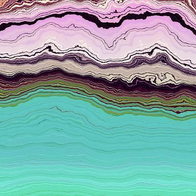 Digital Art - Blue And Lavender by Matt Lindley