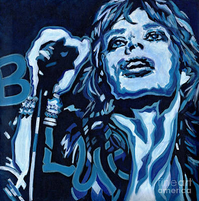 Mick Jagger Poster Painting - Blue And Lonesome by Tanya Filichkin