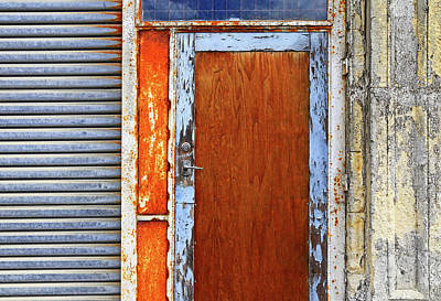 Photograph - Blue And Orange Doorway Entrance. by Nareeta Martin