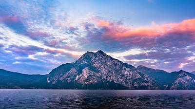 Photograph - Blue And Pink. Traunsee Sunset by Dmytro Korol