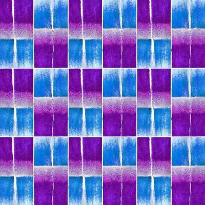 Blue And Purple Pattern Art Print by Patricia Strand