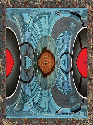 Digital Art - Blue And Red Abstract by Constance Lowery