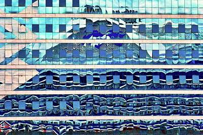 Photograph - Blue And Silver Reflection by Kirsten Giving