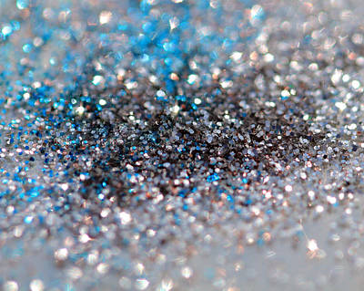Photograph - Blue And Silver Sparkles by Angela Murdock