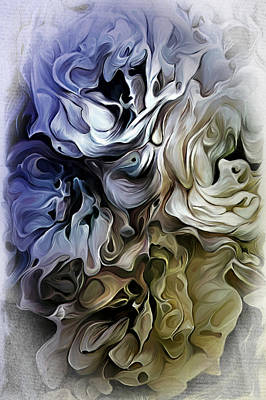 Digital Art - Blue And Tan Abstract by Pachek
