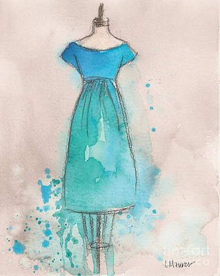 Painting - Blue And Teal Dress by Lauren Maurer