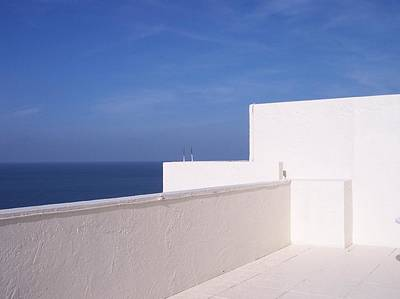 Blue And White Art Print by Anna Villarreal Garbis
