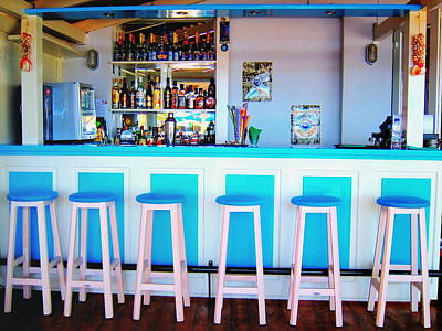 Amazing Digital Art - Blue And White Bar by Andreas Thust