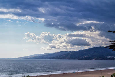 Photograph - Blue And White Clouds Over Malibu by Gene Parks
