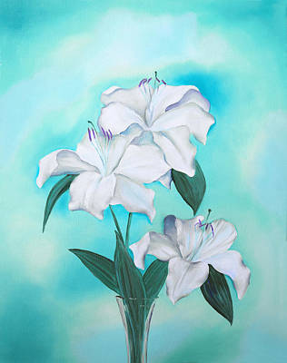 Mixed Media - Blue And White by Elizabeth Lock