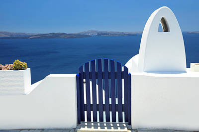 Photograph - Blue And White  by Emmanuel Panagiotakis