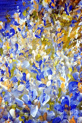 Painting - Blue And White  by Oksana Semenchenko