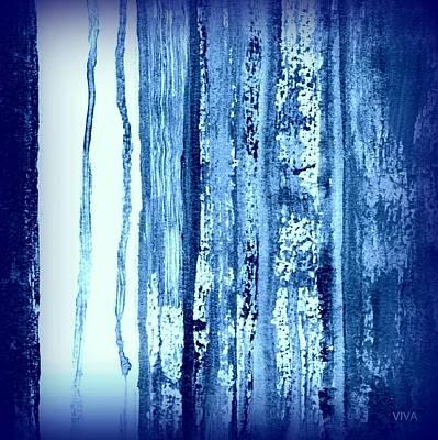 Blue And White Rainy Day Art Print