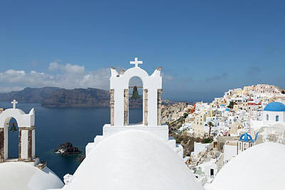 Photograph - Blue And White Santorini by Kay Brewer