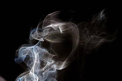 Photograph - Blue And White Smoke by Karen Silvestri