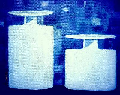 Painting - Blue And White by VIVA Anderson