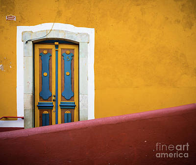 Guanajuato Photograph - Blue And Yellow Door by Inge Johnsson