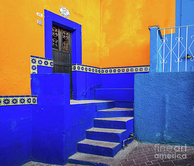 Guanajuato Photograph - Blue And Yellow House by Inge Johnsson