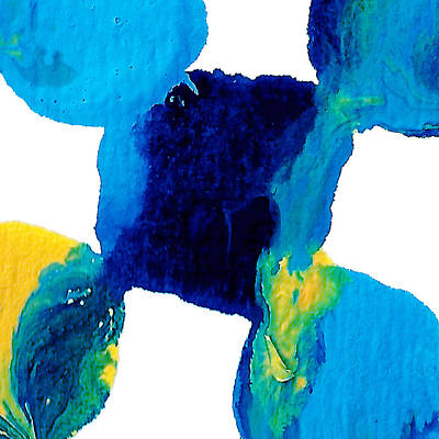 Painting - Blue And Yellow Sea Interactions  by Amy Vangsgard